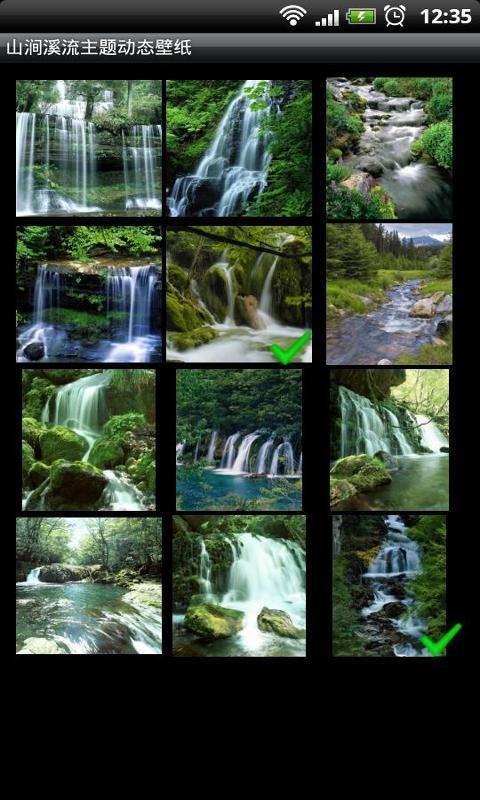 山涧溪流主题动态壁纸截图3