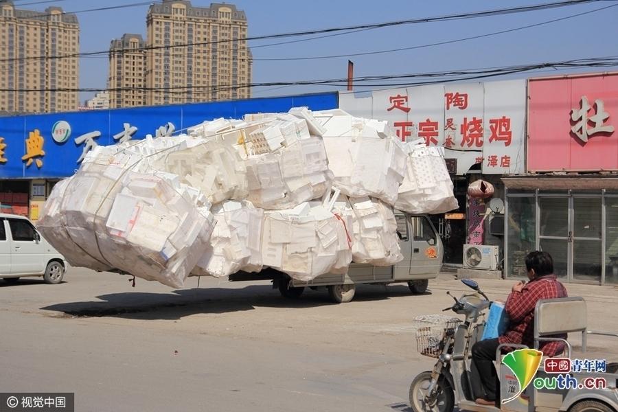 【转】北京时间      山东最牛三轮火车被货物包裹 见货不见车 - 妙康居士 - 妙康居士~晴樵雪读的博客