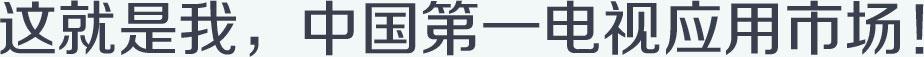 这就是我,中国第一电视应用市场