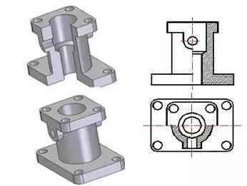 大神运用,CAD机械v大神中剖视图的详细讲解,一卫生间门把手cad怎么画图片