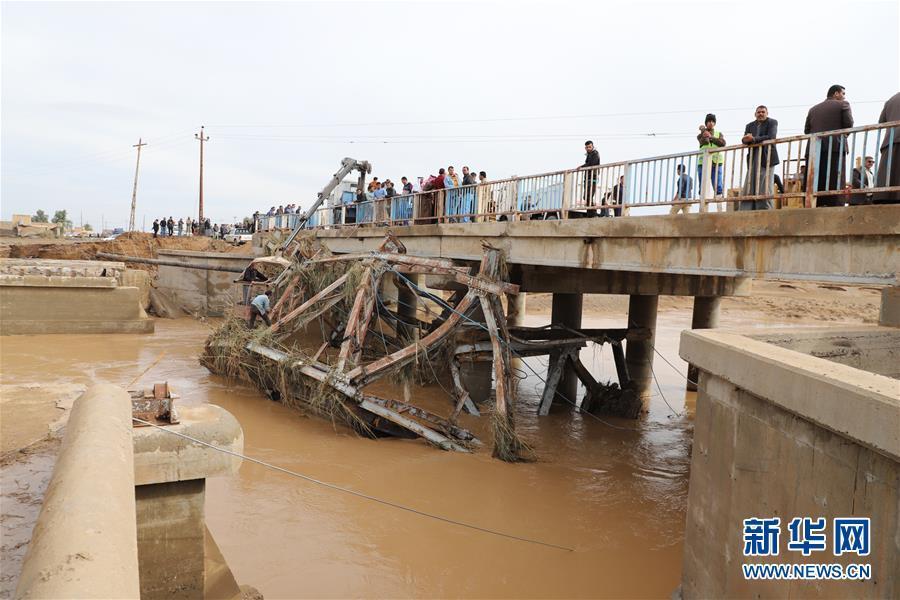伊拉克强降雨引发洪灾致9人丧生