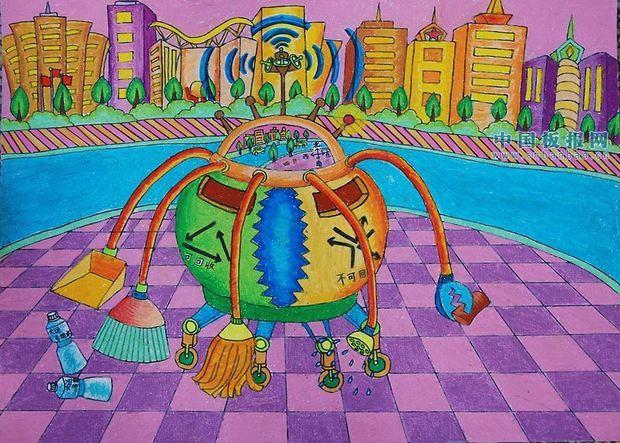 世界级一等奖科幻画 小学生展示
