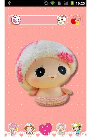 可爱的拇指娃娃,好萌的说~  应用于熊猫桌面的主题