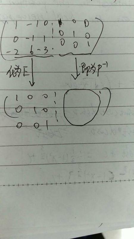 用初等行变换法怎么求这个矩阵的逆矩阵_360