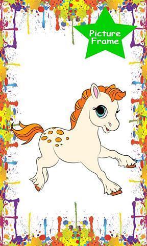 我的小马儿童着色是最好的数码图画书慢条斯理和孩子幼儿园,这个程序