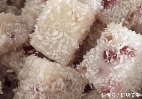 蔓越莓凉糕最简单的做法,学会之后我天天做,邻居小孩常来蹭饭!
