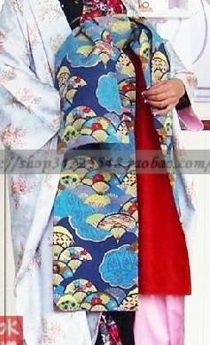 求花魁和服腰带系法 这样的腰带需要多宽