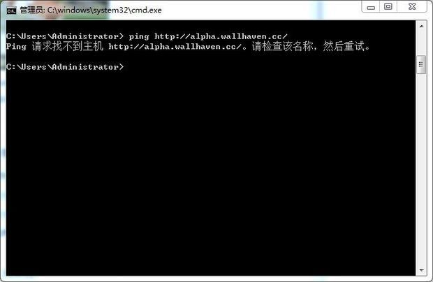 时打不开 提示网络连接错误 错误代码 103 于是用ping 加网址检测这