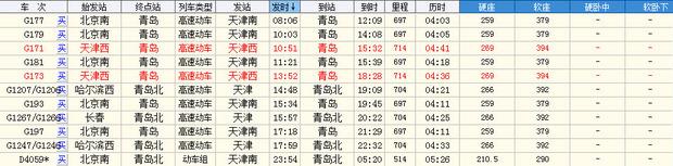 高铁和动车时刻表如下