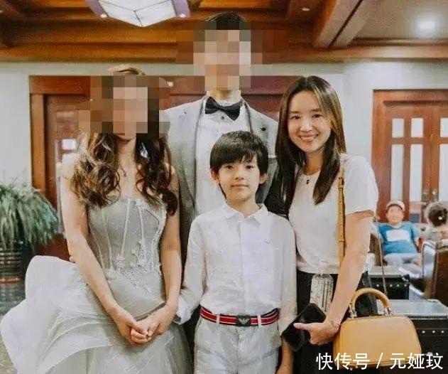董洁10岁儿子顶顶罕见曝光,身高直逼妈妈,比爸爸潘粤明还帅!