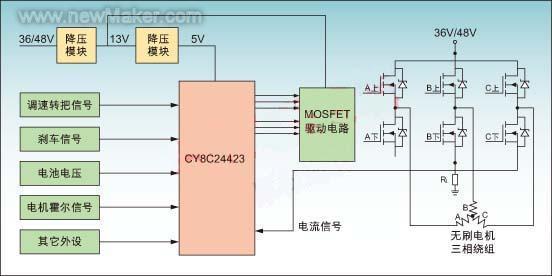 无刷控制器接线图流程
