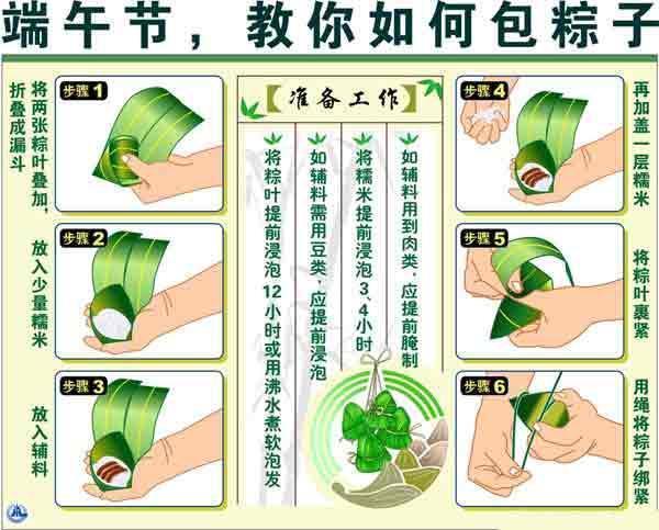 图解包三角粽子步骤方法