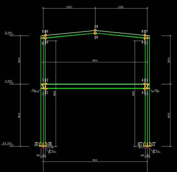 30米跨度钢结构设计图展示