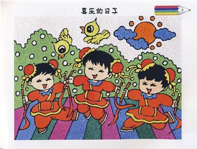 春节儿童画作品欣赏