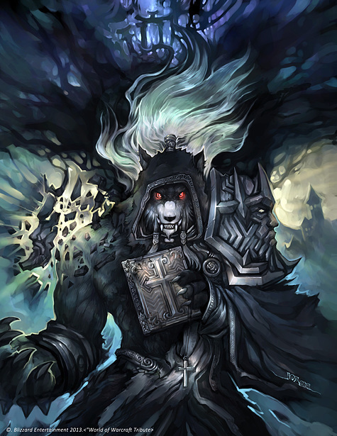 求魔兽世界 这个狼人牧师幻化