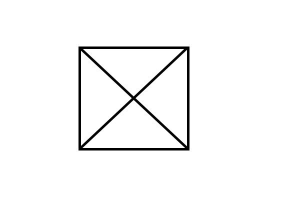 请问如何用6根火柴摆4个边长一样的三角形?