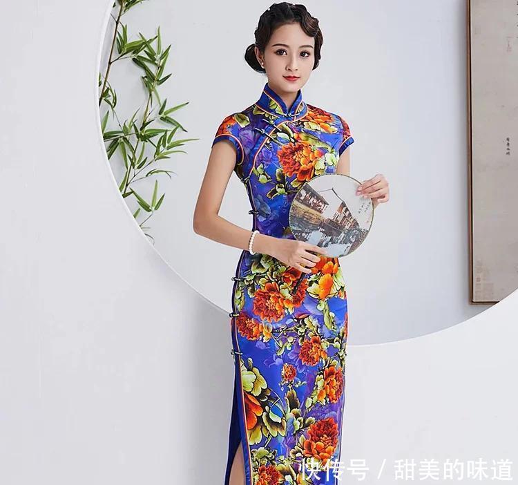 奢华复古宴会旗袍,一抹东方美独具巾帼风范!