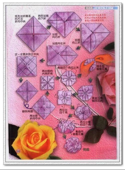 玫瑰花简单折法是什么