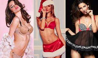 维秘天使圣诞装送祝福 蕾丝裹身