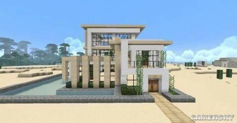 我的世界里这个别墅怎么建?