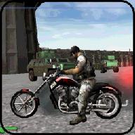摩托车赛车疯狂的城市