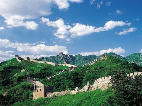 古代风景简笔画长城