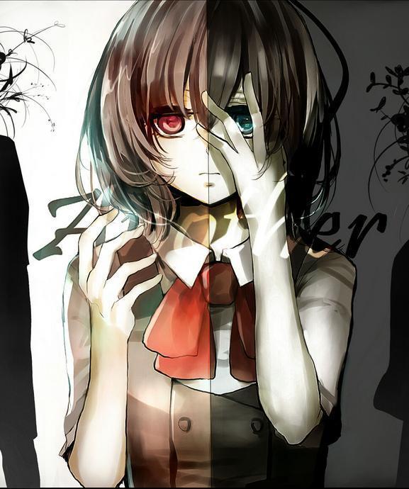 谁给我发张恐怖但是不血腥的动漫女孩?急求