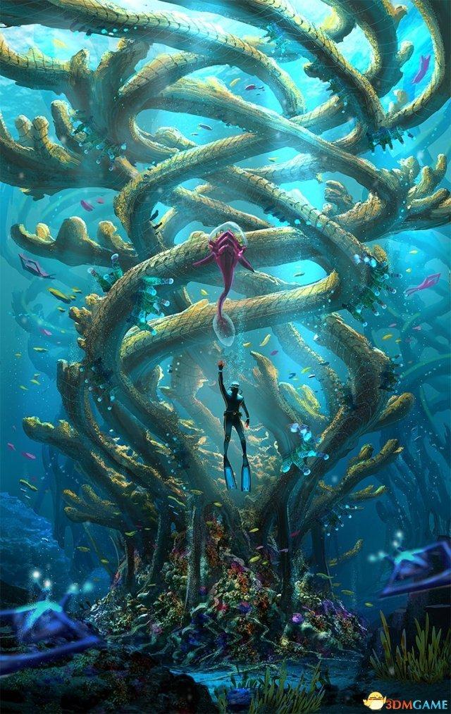 国外游戏美工科幻概念画!光怪陆离的海底世界