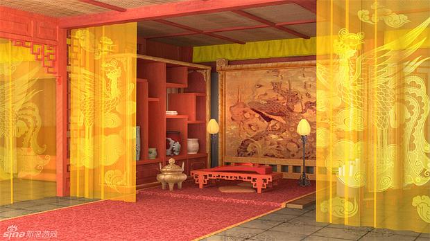 古代房间图片手绘图片