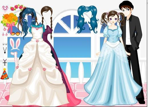 可爱情侣婚纱照