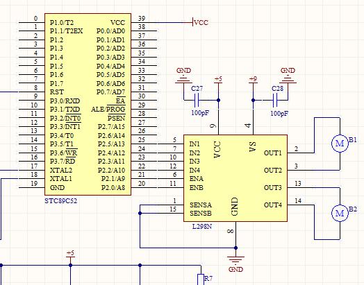 用l298n驱动两个直流减速电机