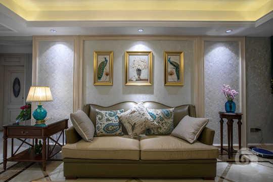 大连三室两厅欧式风格装修案例,轻奢欧式风