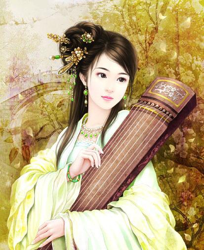第9幅:『手绘古装美女』书亦飞作品:http://www.woxihuan.