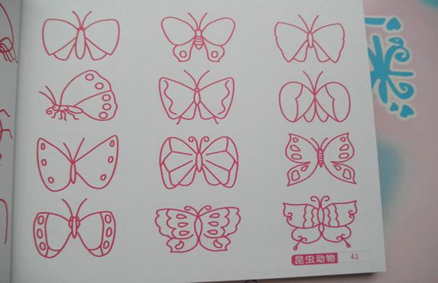蝴蝶怎么画?