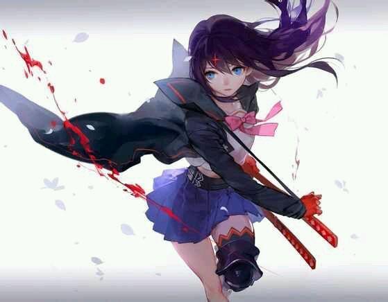 拿武士刀的动漫美女图片