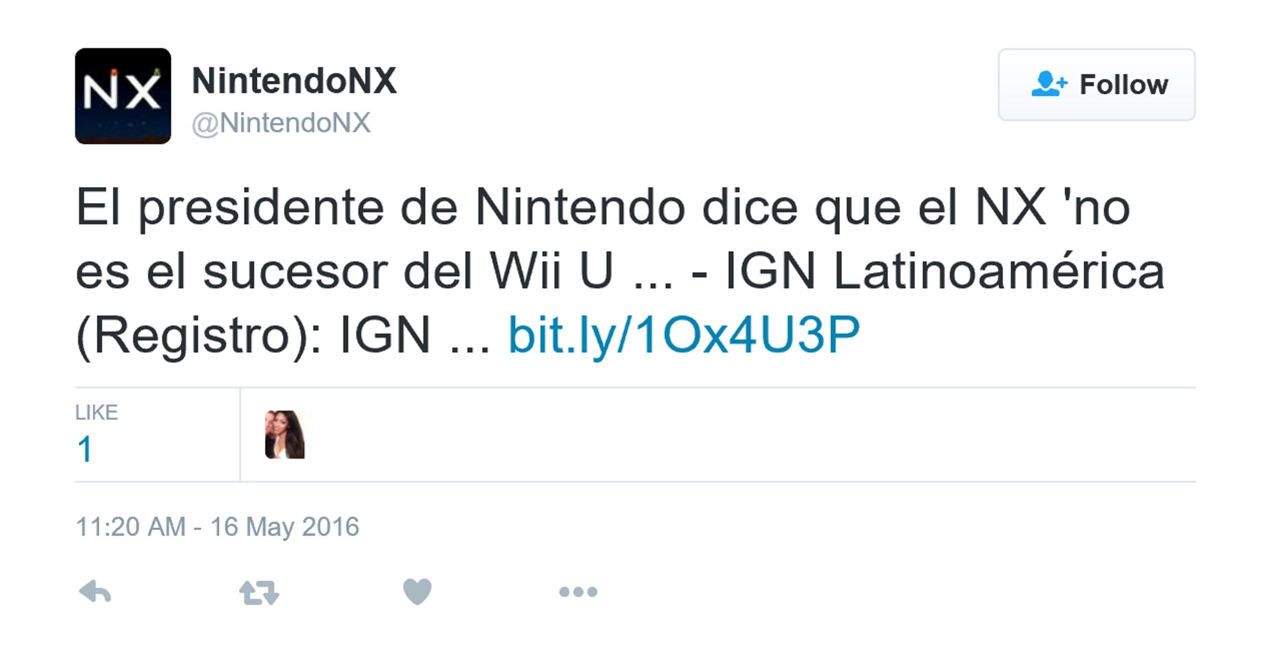 任天堂NX无法取代Wii U
