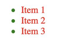 自定义列表项标记颜色