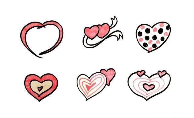 母亲节简笔画 各式各样的心形素材大集合哦 快收藏