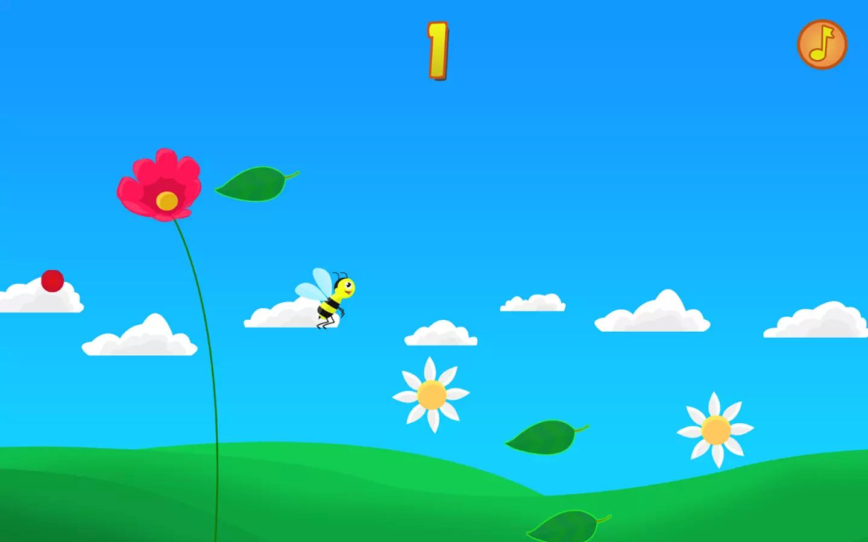 阳光花游戏                       这个可爱的蜜蜂会从鲜花权力,你