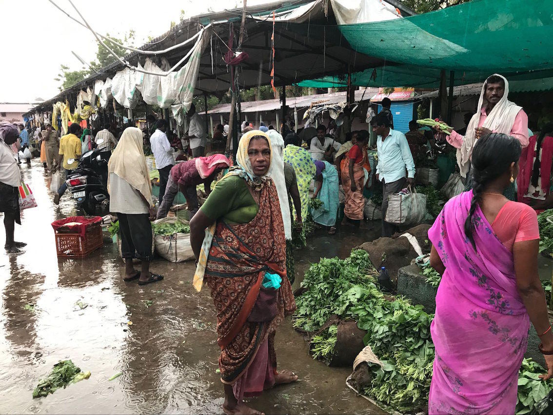 印度县城的农贸市场一看就不如国内,但没想到他们也吃牛肉 -  - 真光 的博客