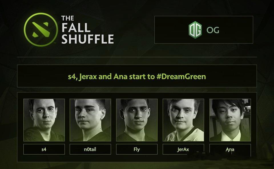 《Dota2》OG战队公布新阵容