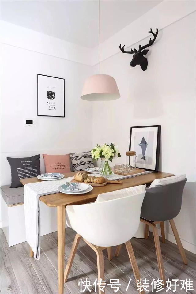餐厅面积小,可以这样搭配背景墙,让你家变得更有格调