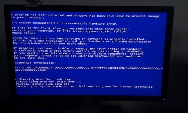 电脑蓝屏图片_电脑蓝屏怎么解决
