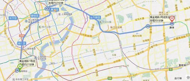 上海汽车南站到唐镇怎么走?