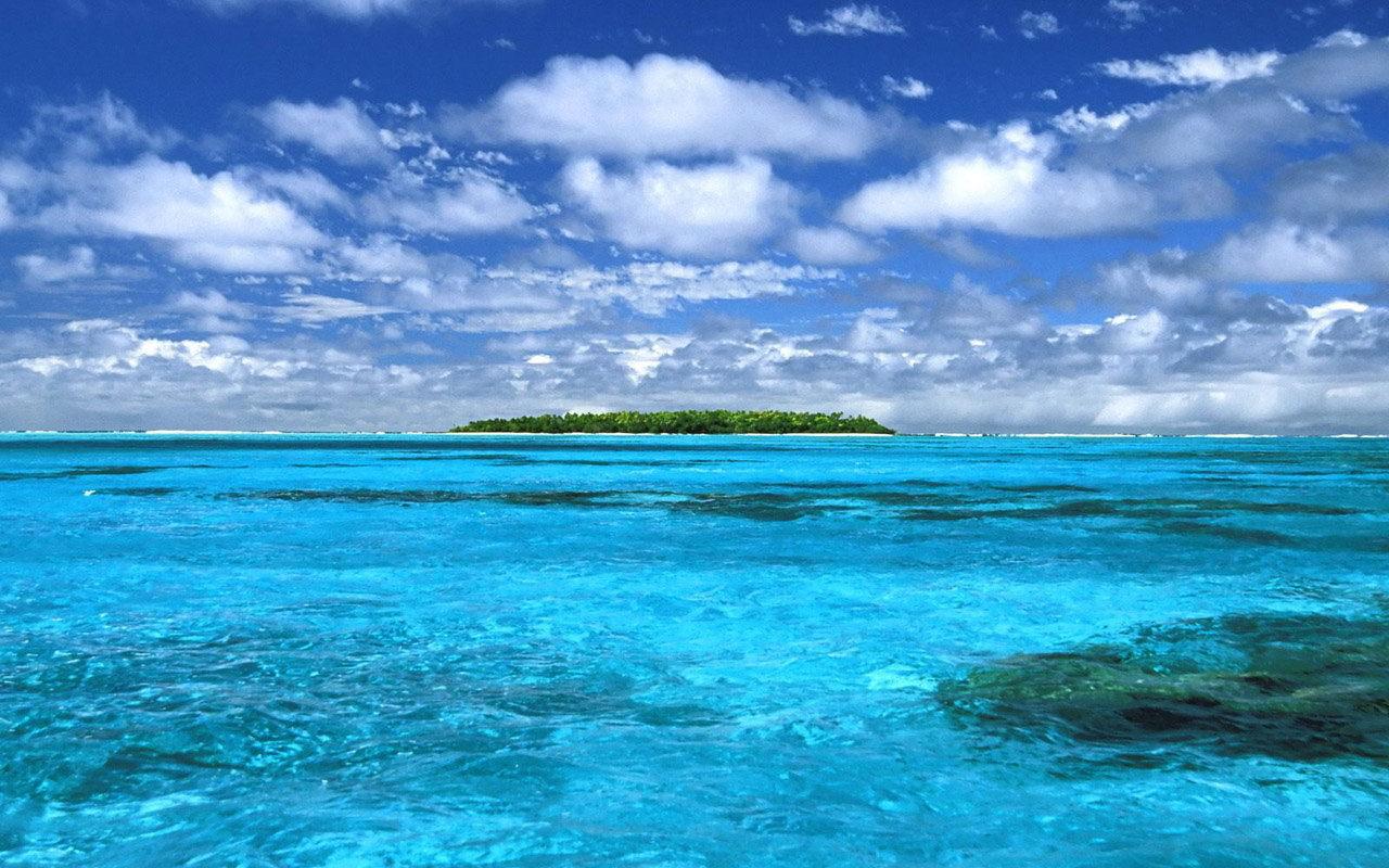 湖蓝色欧式壁纸