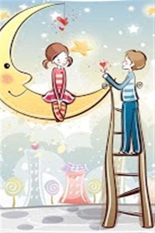 浪漫爱情插画