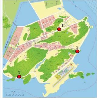 三灶岛地形图