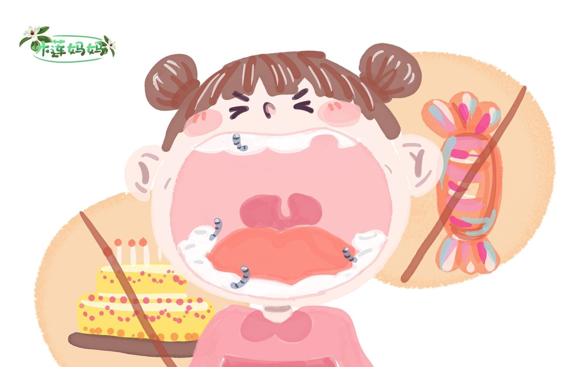 孩子不总吃糖果和零食,还是出现了很多蛀牙,这些行为家长要重视
