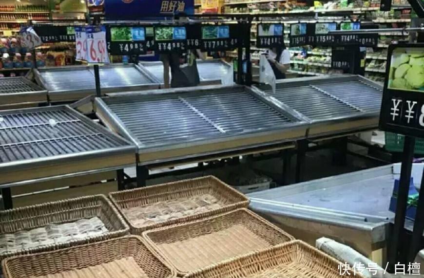 """超强台风""""山竹""""来临超市卖光的不是泡面面包而是它!"""