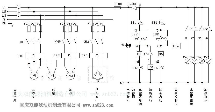 润滑油滤油机电路图